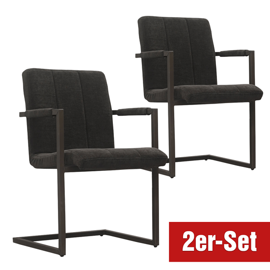 BREAZZ Stuhl Chairactor 2er Set anthrazit
