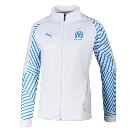 Puma Olympique Marseille Trainingsjacke weiß/blau