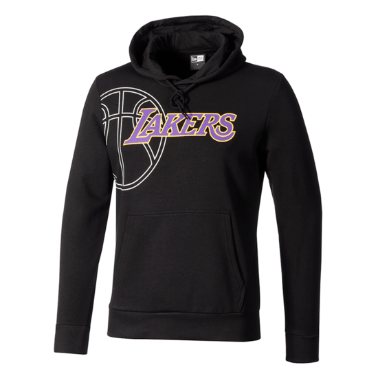 New Era Los Angeles Lakers Hoodie Graphic Basketball schwarz