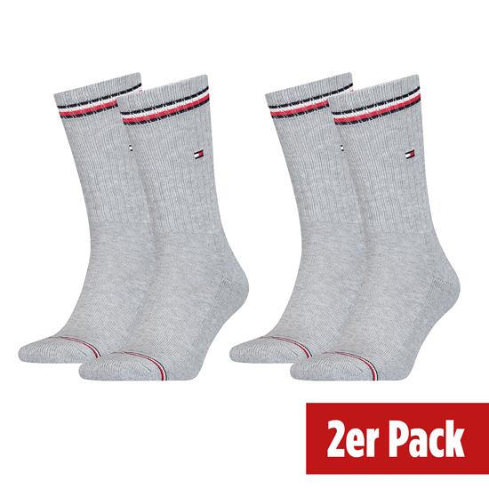 Tommy Hilfiger Socken 2er Pack ICONIC SOCK Hellgrau