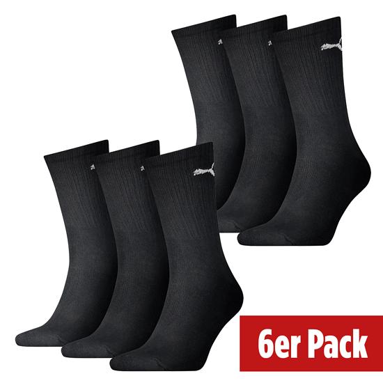 Puma Socken 6er Pack Lang Schwarz