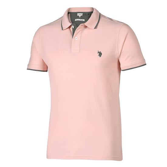 U.S. POLO ASSN. Poloshirt Fashion rose/grau