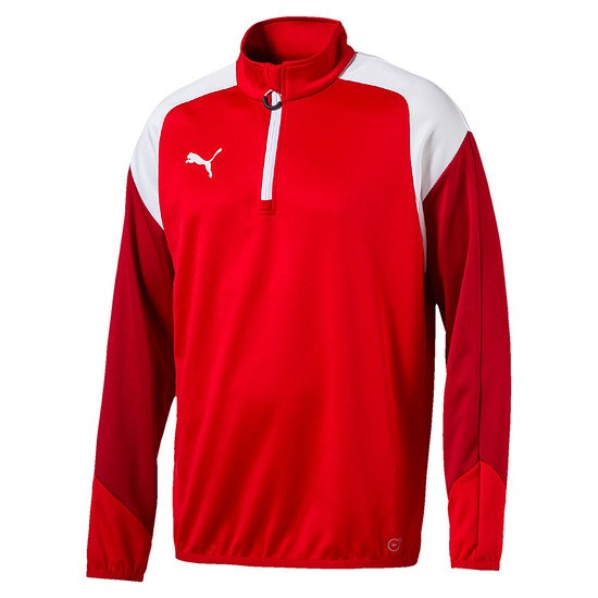 Puma Trainingstop 1/4 Zip Team Rot/Weiß