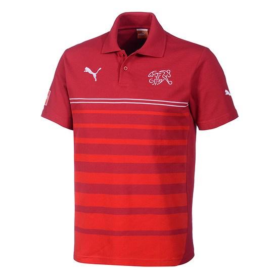 Puma Schweiz Polo Shirt Leisure Rot