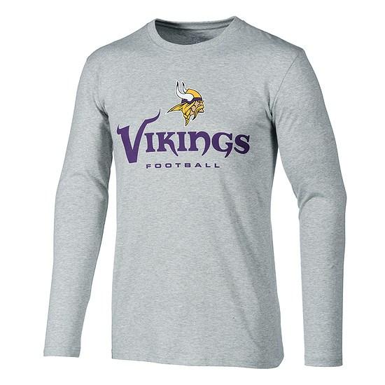Majestic Athletic Minnesota Vikings Longsleeve Our Team grau