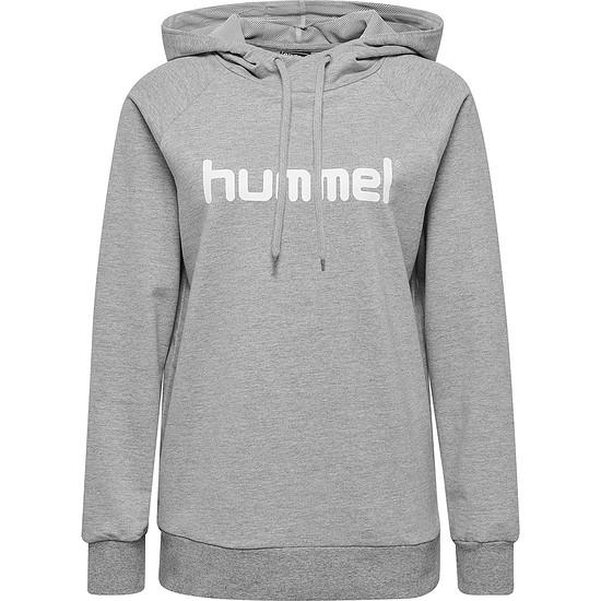hummel Hoodie Cotton Logo Damen grau