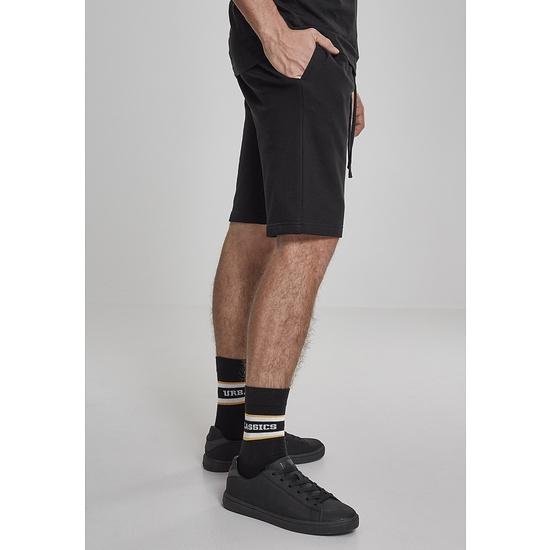URBAN CLASSICS Sweatshorts Basic schwarz