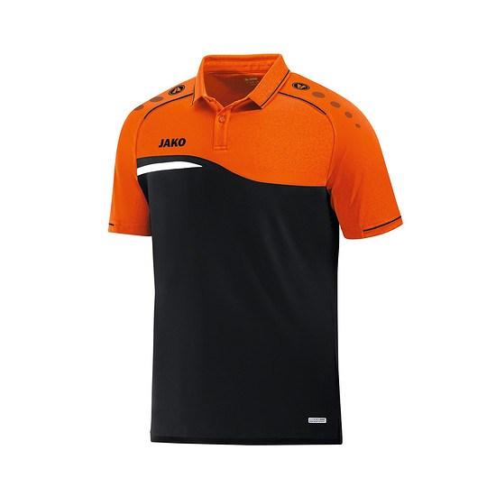 Jako Poloshirt Competition 2.0 schwarz/neonorange