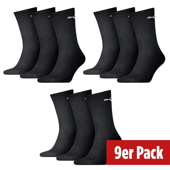 Puma Socken Lang 3er Pack - 3er Set = 9 Paar Socken schwarz