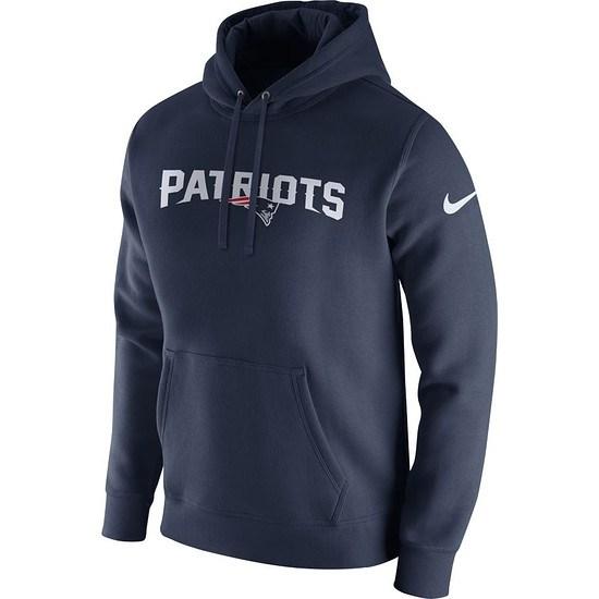 Nike New England Patriots NFL Club Hoodie Blau