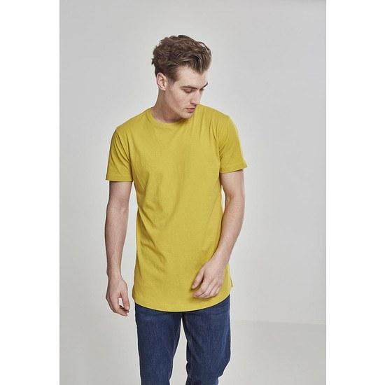 URBAN CLASSICS T-Shirt Shaped Long senf