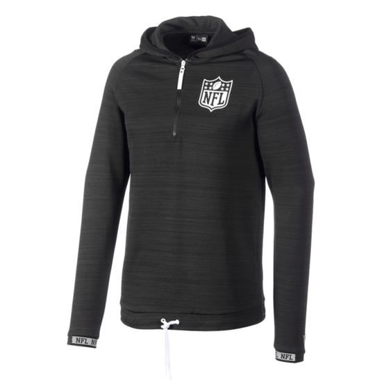 New Era NFL Shield Sweatshirt Engineered Half-Zip schwarz