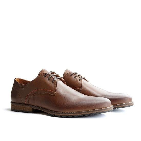 TRAVELIN OUTDOOR Schuh Manchester Leather Dunkelbraun
