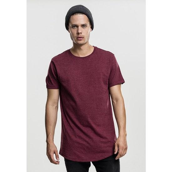 URBAN CLASSICS T-Shirt Shaped Melange Long rot
