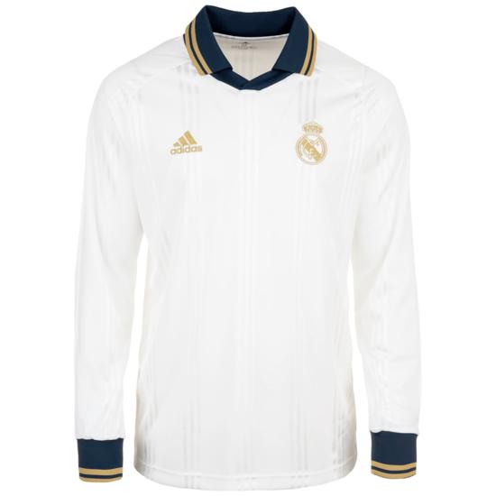 Adidas Real Madrid Longsleeve Icons weiß/schwarz