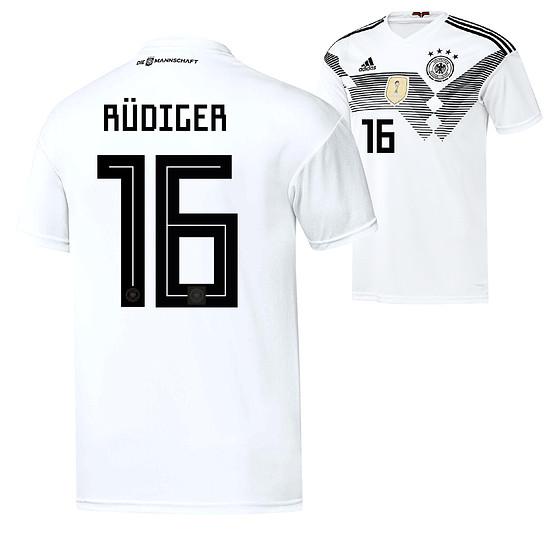 Adidas Deutschland WM 2018 DFB Trikot Heim RÜDIGER