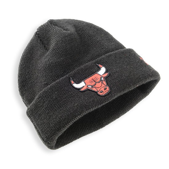 New Era Chicago Bulls Beanie Team Essential Kinder schwarz/rot