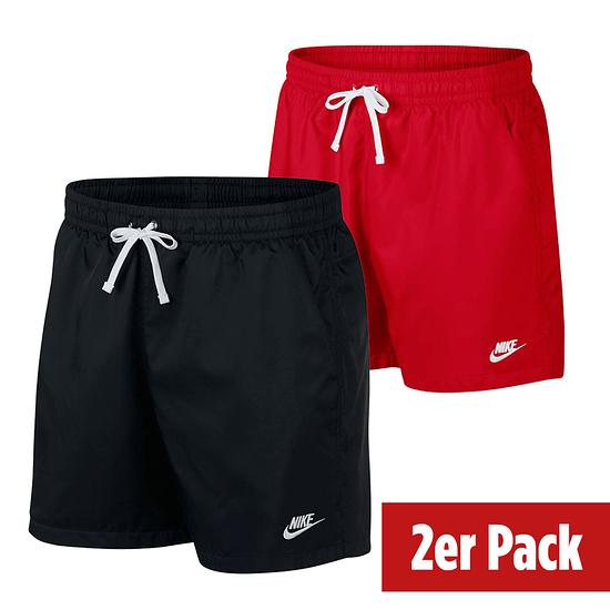 Nike Freizeit- und Badeshorts 2er Set Schwarz/Rot