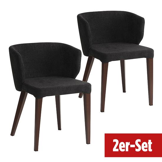BREAZZ Stuhl Fabric 2er Set anthrazit