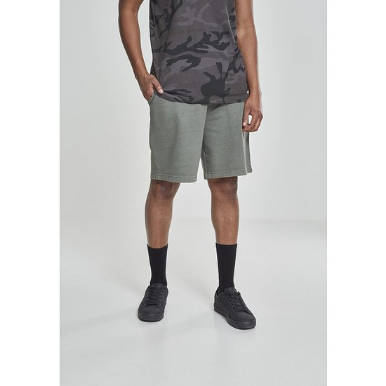 URBAN CLASSICS Shorts Acid Wash olive