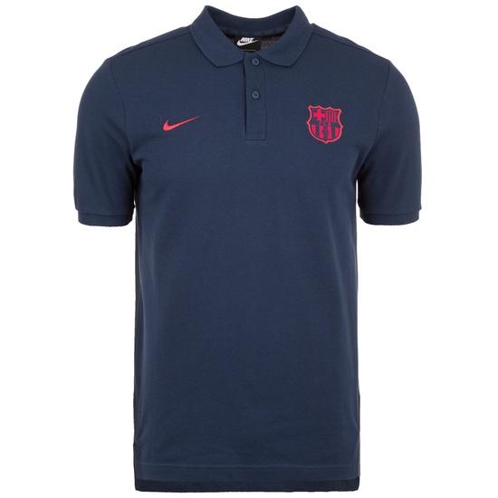 Nike FC Barcelona Poloshirt Team blau/rot
