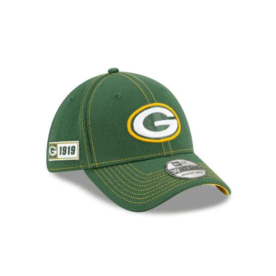 New Era Green Bay Packers Cap On Field 39THIRTY grün