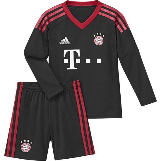 Adidas FC Bayern München Torwarttrikot 2017/2018 Mini Kit Heim