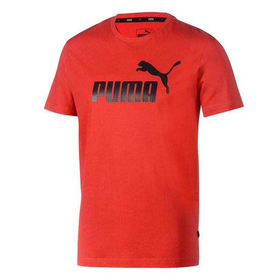 Puma T-Shirt ESS No.1 rot/schwarz