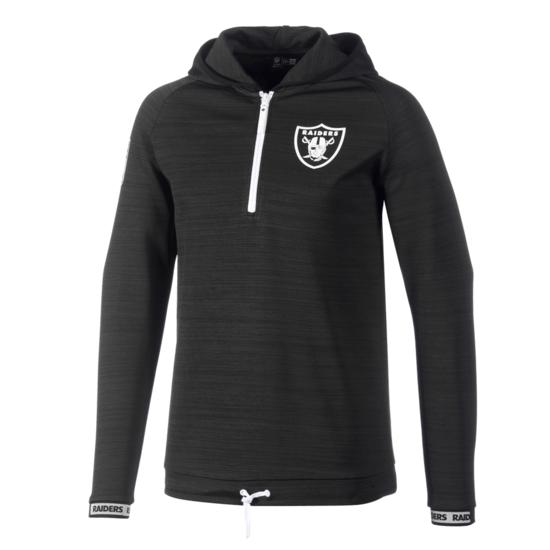 New Era Las Vegas Raiders Sweatshirt Engineered Half-Zip schwarz