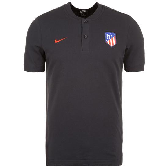 Nike Atletico Madrid Poloshirt schwarz/rot