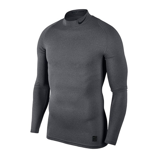 Nike Pro Langarmshirt Top Compression Mock Grau