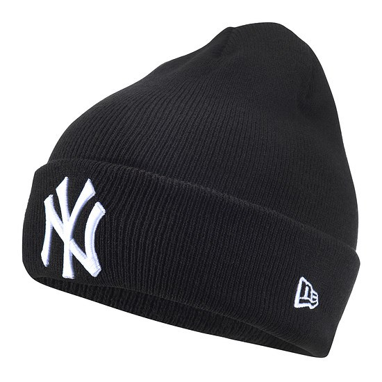 New Era New York Yankees Beanie Essential League Cuff schwarz