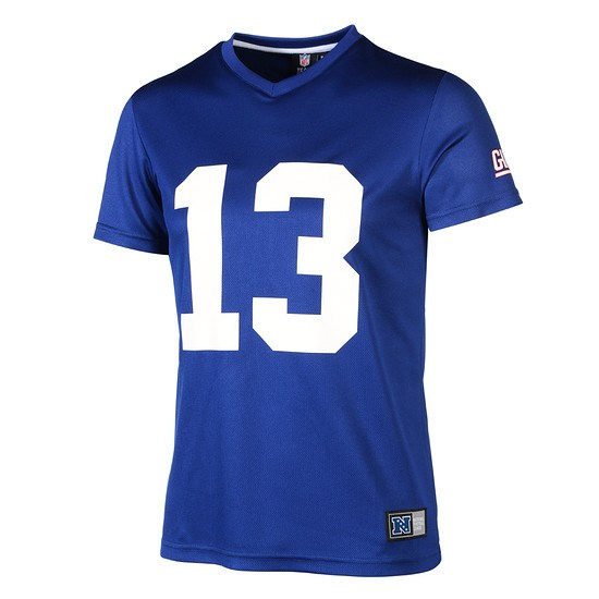Majestic Athletic New York Giants PolyMesh T-Shirt Beckham Jr. Nr 13 blau