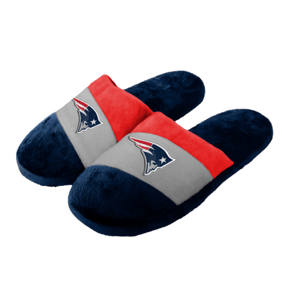 Forever Collectibles New England Patriots Hausschuhe Colourblock blau