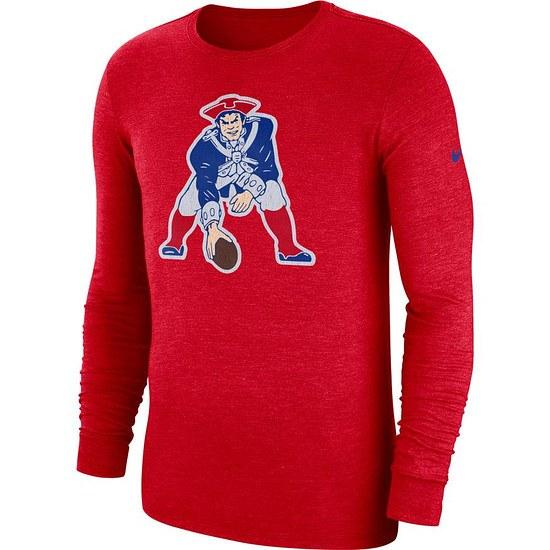 Nike New England Patriots Langarm Shirt HISTORIC Rot