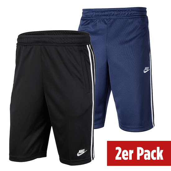 Nike Shorts Tribute 2er Set Schwarz/Blau