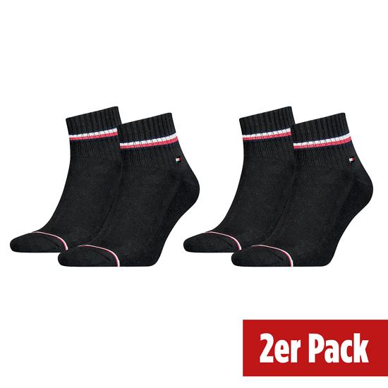 Tommy Hilfiger Socken 2er Pack ICONIC QUARTER Schwarz