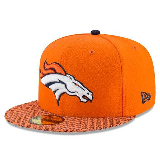 New Era Denver Broncos Cap NFL 59FIFTY Sideline orange