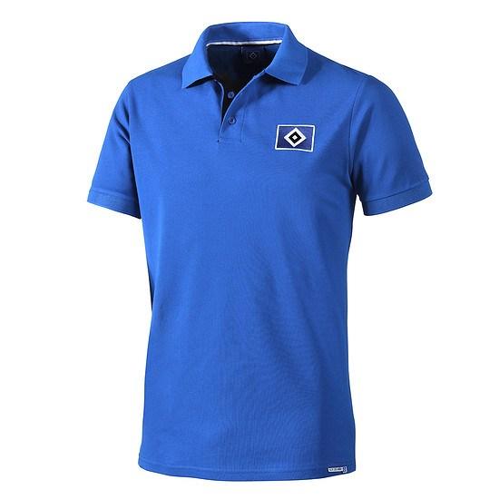 Hamburger SV Poloshirt Raute blau