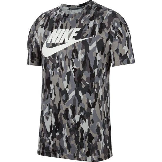 Nike T-Shirt CAMO Swoosh Schwarz/Grau