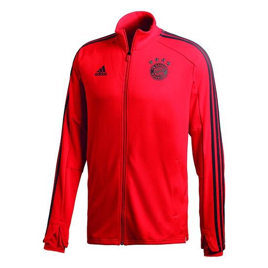 Adidas FC Bayern München Warmlaufjacke Kinder Rot