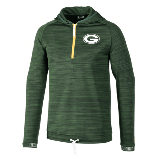 New Era Green Bay Packers Sweatshirt Engineered Half-Zip schwarz