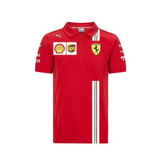 Ferrari Poloshirt Team 2020 rot