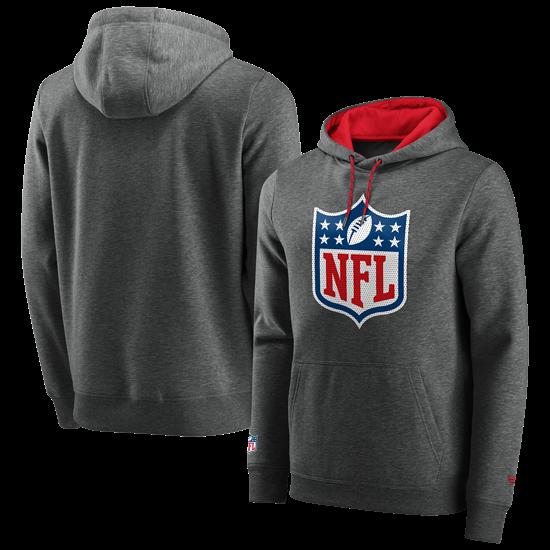Fanatics NFL Shield Hoodie Overhead grau