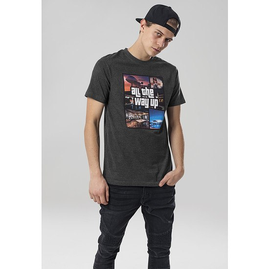 Mister Tee T-Shirt All The Way Up grau