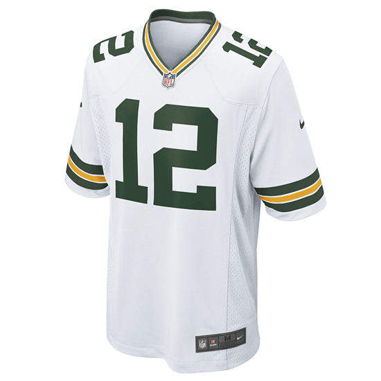Nike Green Bay Packers Trikot Away Game Rodgers weiß