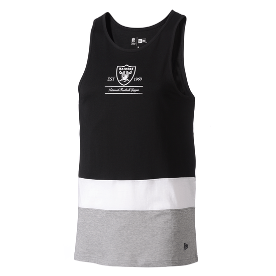 New Era Oakland Raiders Tanktop Colour Block schwarz