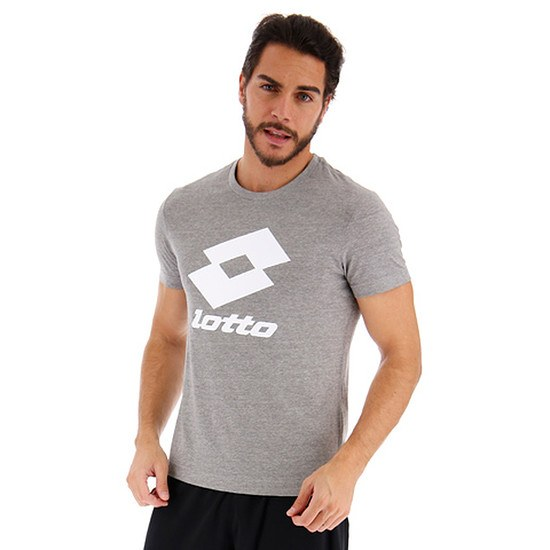 Lotto T-Shirt Smart Logo grau/weiß