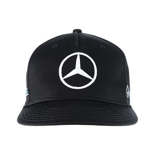 Mercedes AMG Petronas Flatbrim Cap Hamilton schwarz