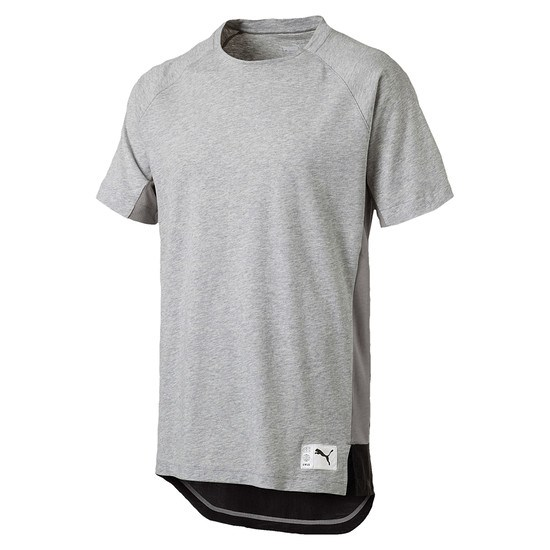 Puma T-Shirt NEXT Casuals Graphic Hellgrau/Dunkelgrau